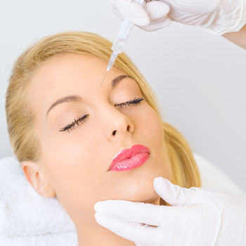 Woman being injected with Botox